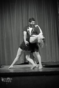 Our lovely dip during rehearsal. I think this is my favorite picture of our duet.