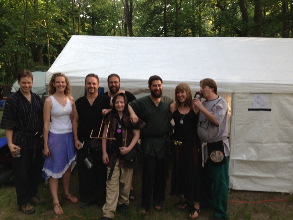 From left to right: Zagar, Skadi, Asbeorn, Victor, Ulffer, Mikar, myself, and Wasad in our beautiful Da Juhr Ga camp.